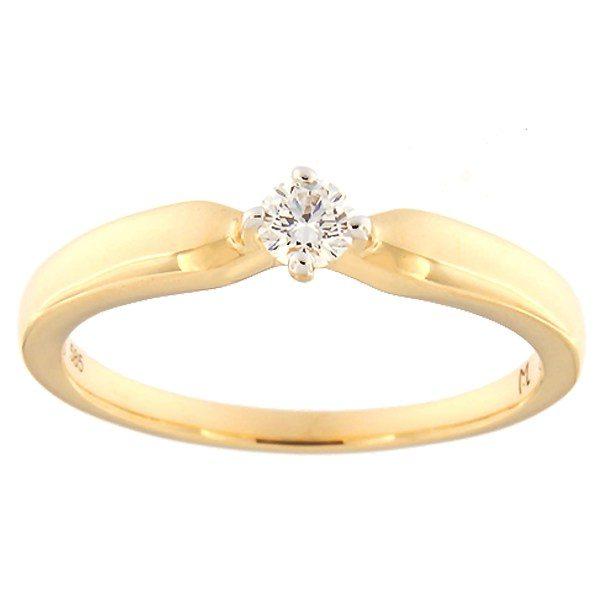 Kullast sõrmus teemantidega 0,14 ct. Kood: 182ak