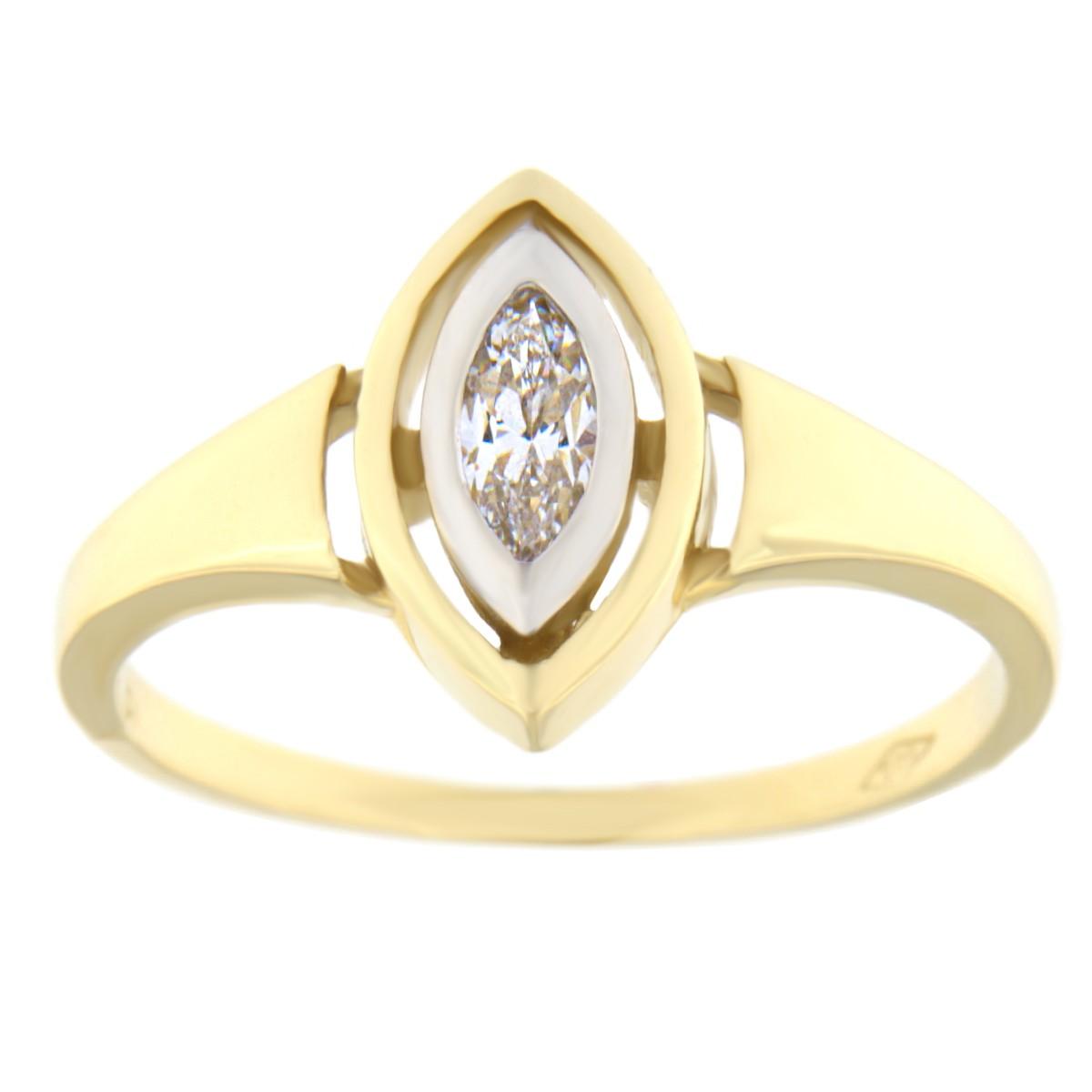 Kullast sõrmus tsirkooniga Kood: 44pa, 79pt, 183pe