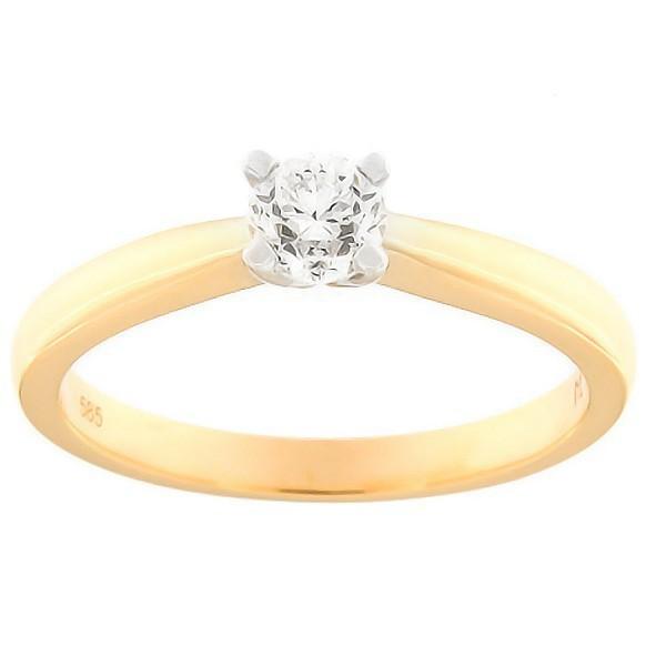 Kullast sõrmus teemantiga 0,38 ct. Kood: 186ak