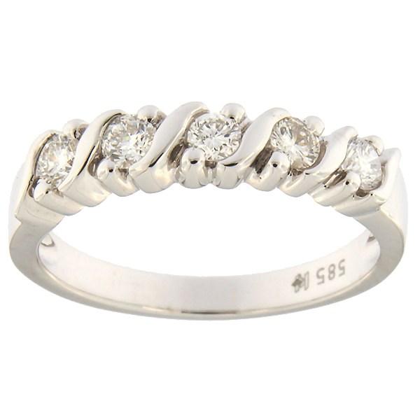 Kullast sõrmus teemantidega 0,35 ct. Kood: 18hk