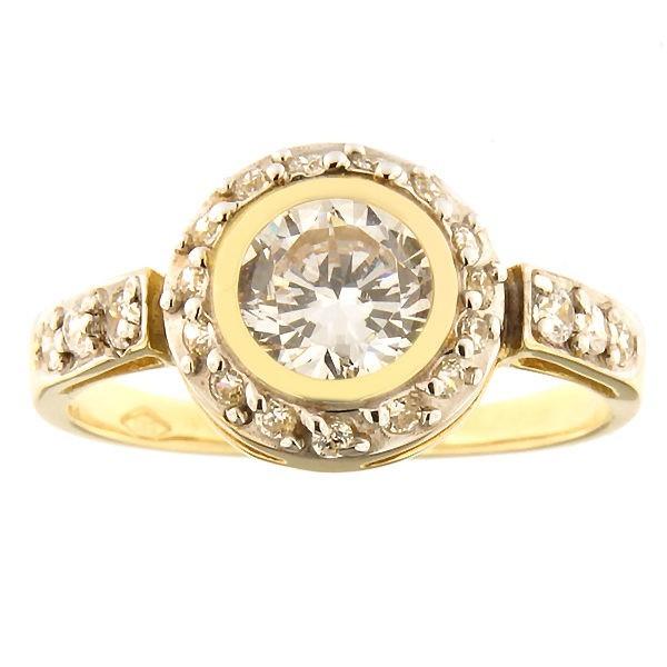 Kullast sõrmus tsirkoonidega Kood: 192pe
