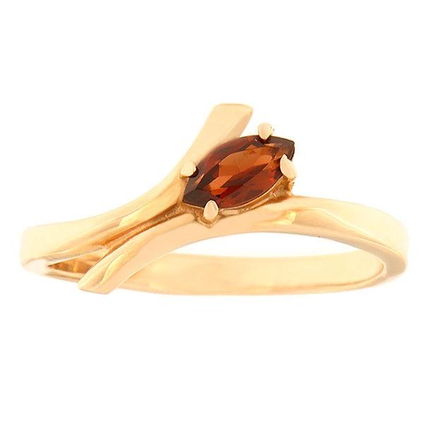 Kullast sõrmus granaadiga Kood: 21888j