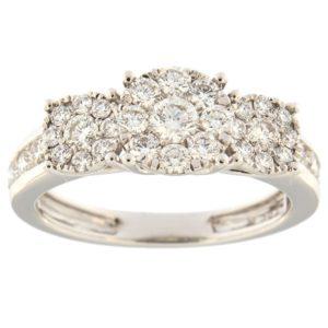 Kullast sõrmus teemantidega 1,00 ct. Kood: 21hk