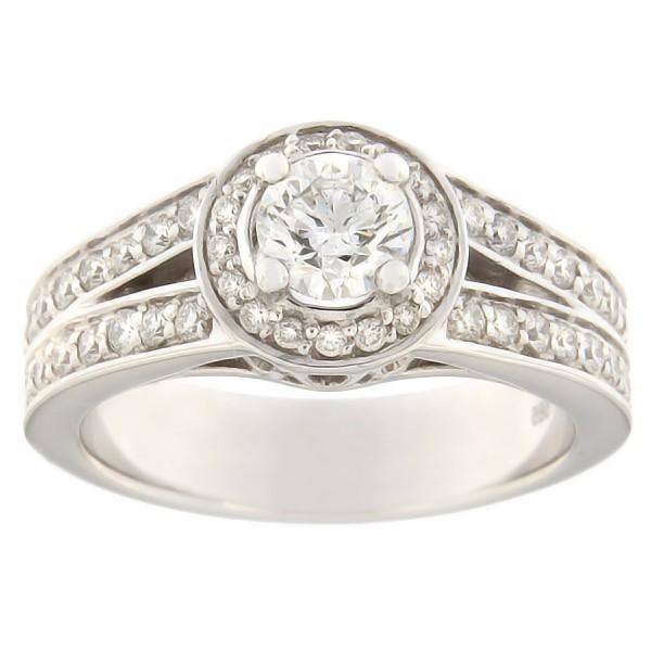 Kullast sõrmus teemantidega 0,99 ct. Kood: 228ad