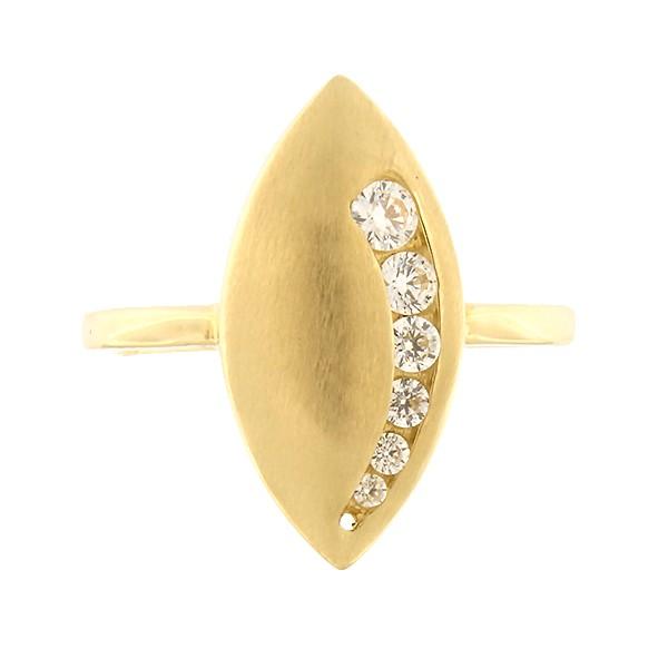 Kullast sõrmus tsirkoonidega Kood: 230pe