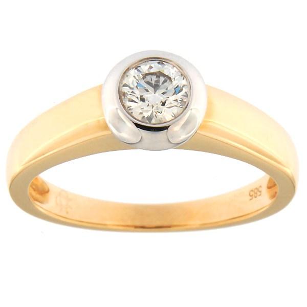 Kullast sõrmus teemantidega 0,30 ct. Kood: 23ax