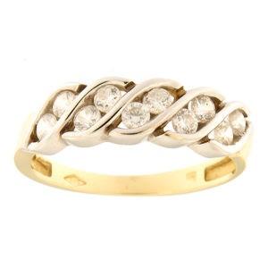 Kullast sõrmus tsirkoonidega Kood: 244pe