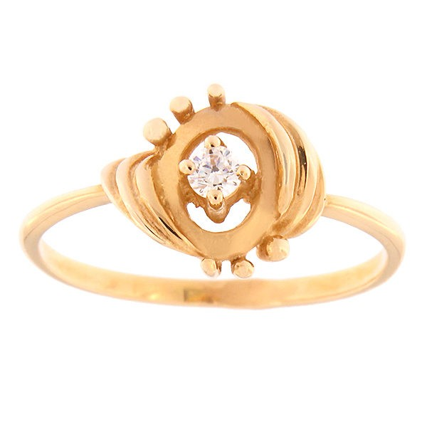 Gold ring with zircon Code: 262p