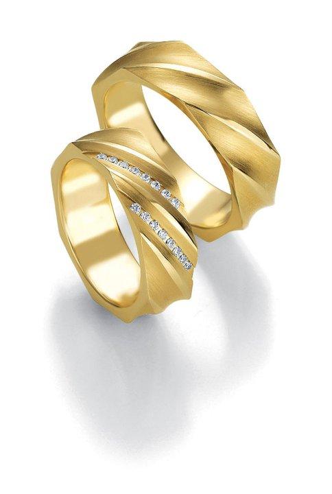 Breuning abielusõrmused - Kollane kuld - MATIGOLD