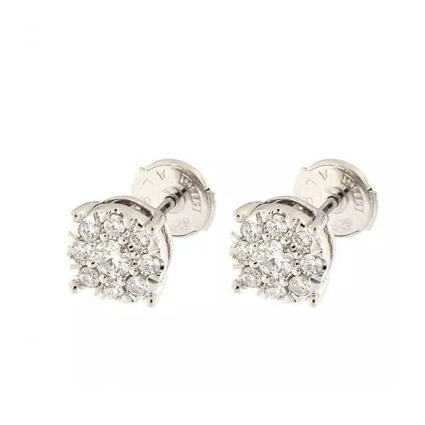 Gold earrings with diamonds 0,41 ct. Code: 26ak
