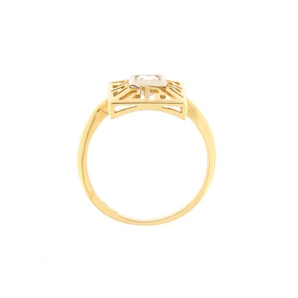 Kullast sõrmus tsirkooniga Kood: 2pa-1