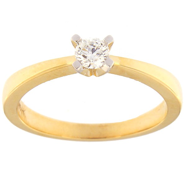 Gold ring with diamond 0,20 ct. Code: 30hb
