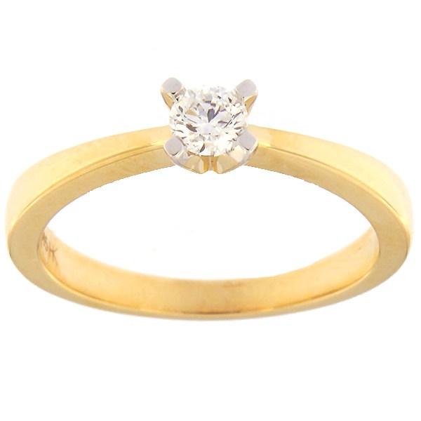 Kullast sõrmus teemantiga 0,20 ct. Kood: 30hb