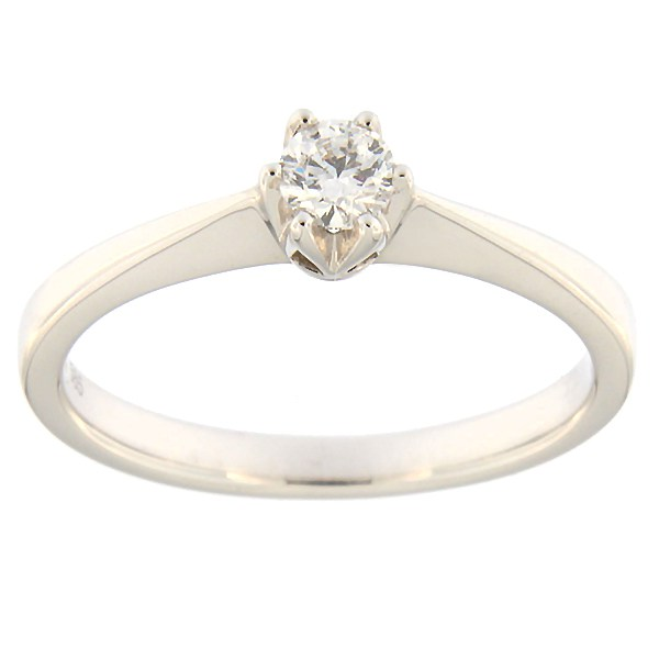 Kullast sõrmus teemantiga 0,19 ct. Kood: 31ax