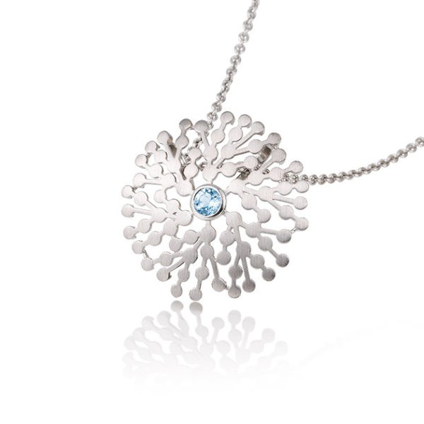 Silver pendant with blue topaz Code: 32032360