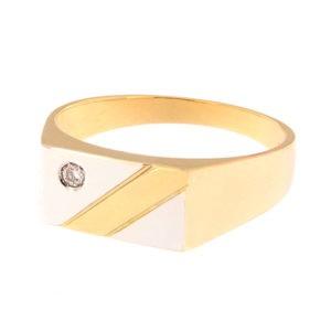Золотая печатка с бриллиантами Kод: 338b