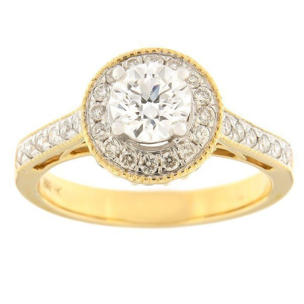 Gold ring with diamonds 1,00 ct. Code: 33ha-rb4716