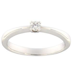 Kullast sõrmus teemantiga 0,10 ct. Kood: 35ax