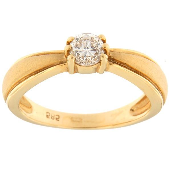 Kullast sõrmus teemantiga 0,31 ct. Kood: 35orc