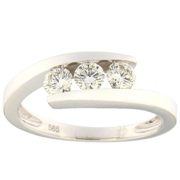 Kullast sõrmus teemantidega 0,49 ct. Kood: 37ax