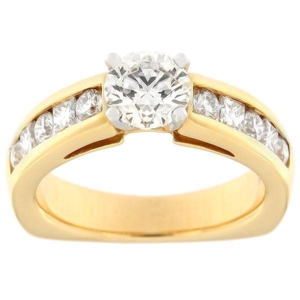 Kullast sõrmus teemantidega 1,73 ct. Kood: 380ad