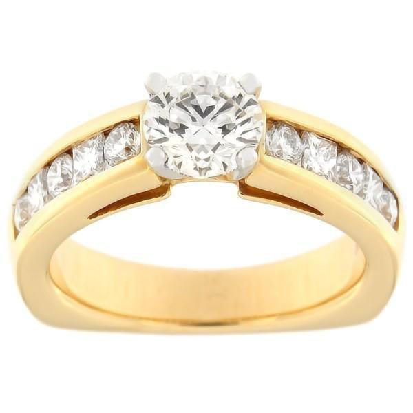 Золотое кольцо с бриллиантами 1,73 ct. Kood: 380ad