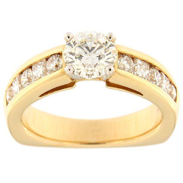 Kullast sõrmus teemantidega 1,78 ct. Kood: 382ad