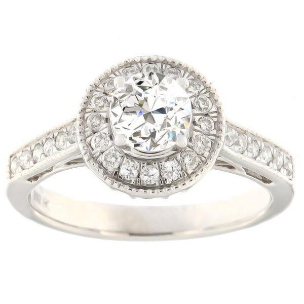 Kullast sõrmus teemantidega 1,00 ct. Kood: 39ha-rb4716