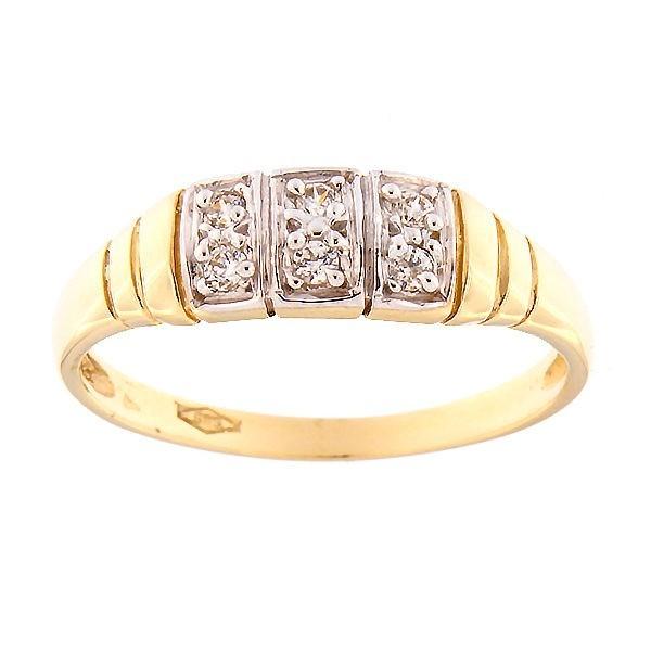 Kullast sõrmus tsirkoonidega Kood: 3pa