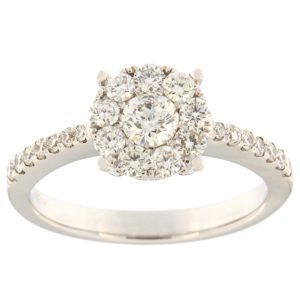 Kullast sõrmus teemantidega 0,80 ct. Kood: 40ha
