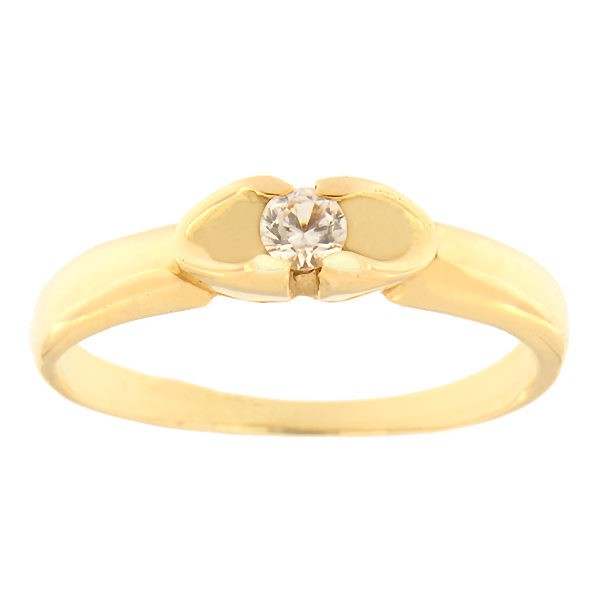 Gold ring with zircon Code: 425p