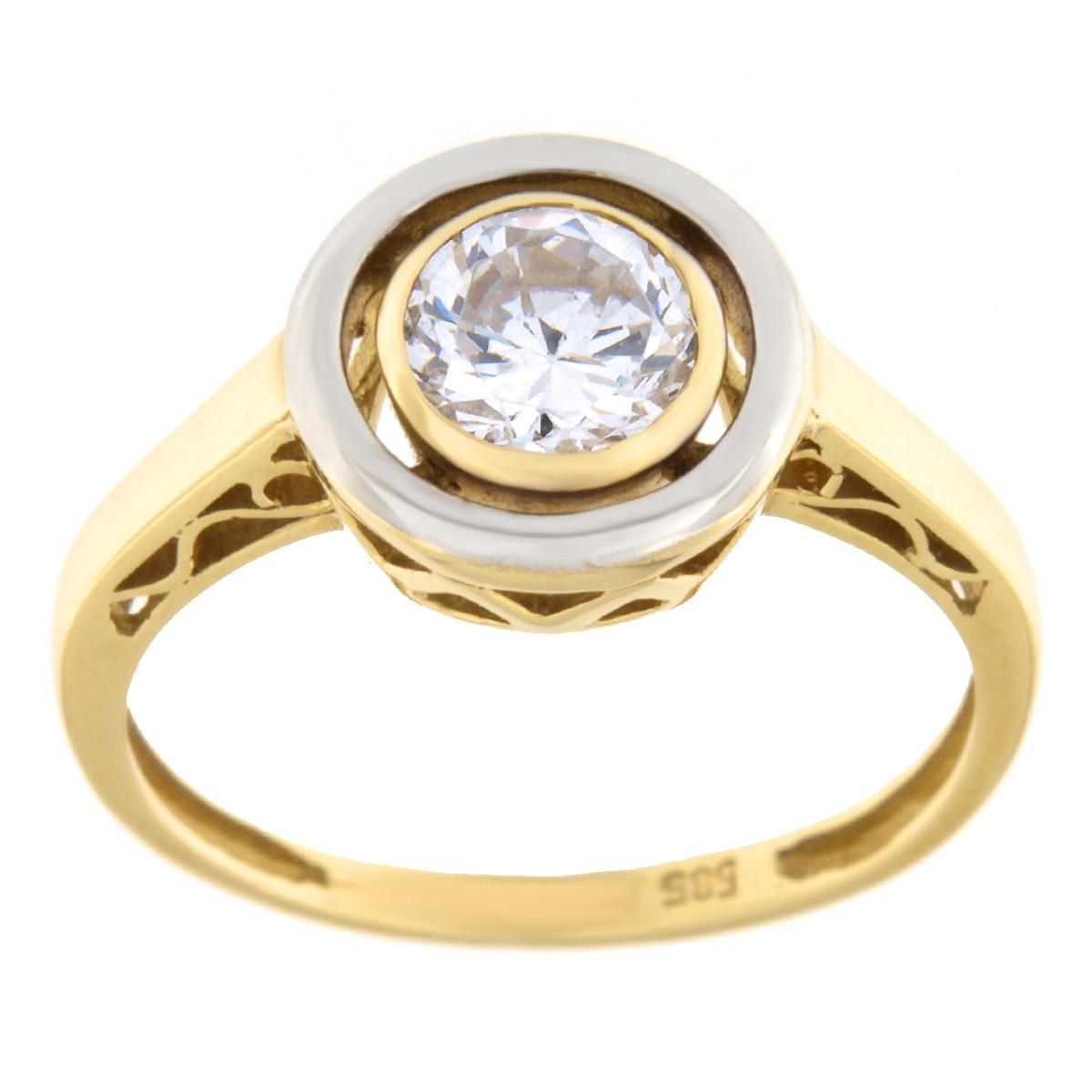 Kullast sõrmus tsirkooniga Kood: 455wp489, 453wp489