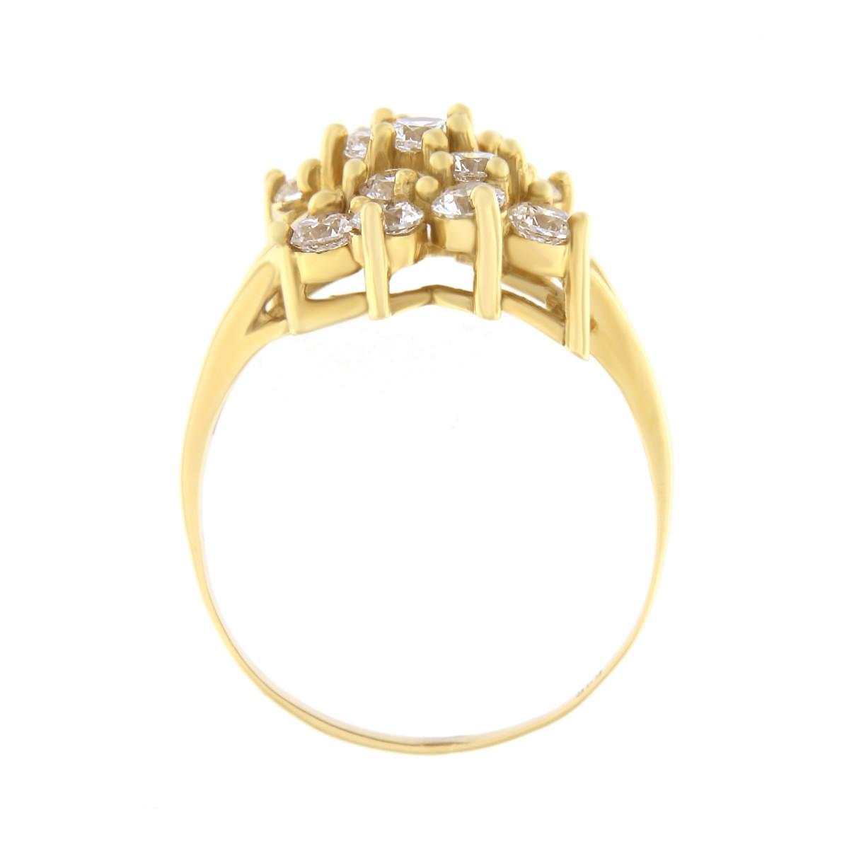 Kullast sõrmus tsirkoonidega Kood: 461wp065, 460wp065 külg