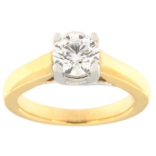 Золотое кольцо с бриллиантам 1,00 ct. Kood: 47aa