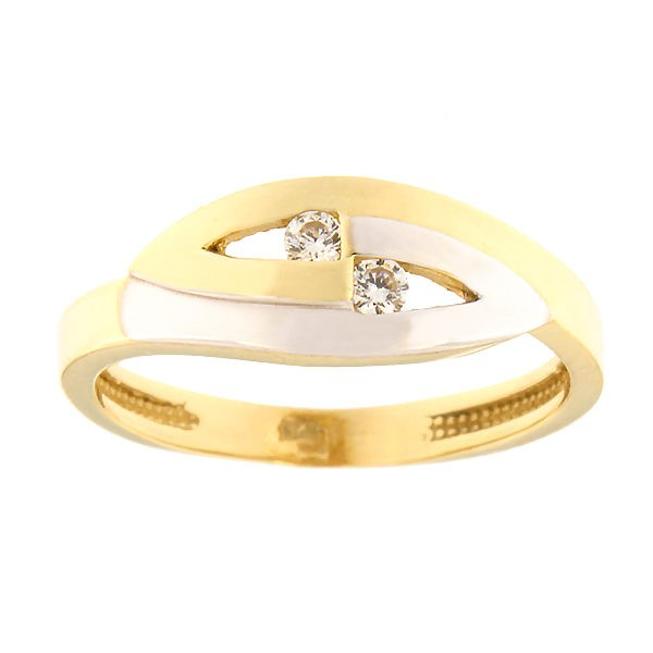 Gold ring with zircons Code: 47pa
