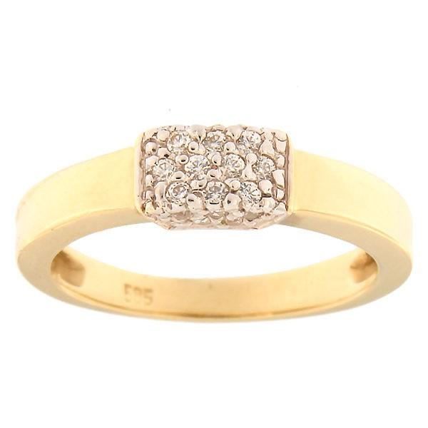 Kullast sõrmus tsirkoonidega Kood: 484epp531