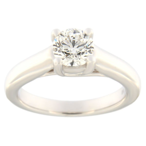 Gold engagement ring with diamonds 1,00 ct. Code: 48aa
