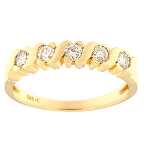 Gold ring with diamonds 0,35 ct. Code: 48ha