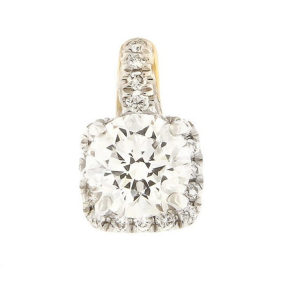 Gold pendant with diamonds 0,60 ct. Code: 49af