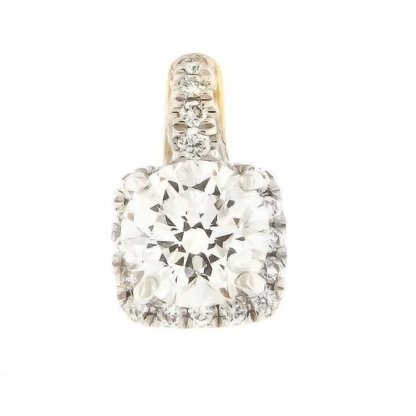 Kullast ripats teemantidega 0,60 ct. Kood: 49af