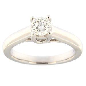 Kullast sõrmus teemantidega 0,50 ct. Kood: 4ax