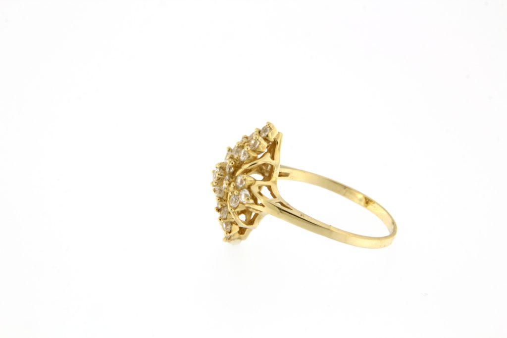 Kullast sõrmus tsirkoonidega Kood: 507wp049-1