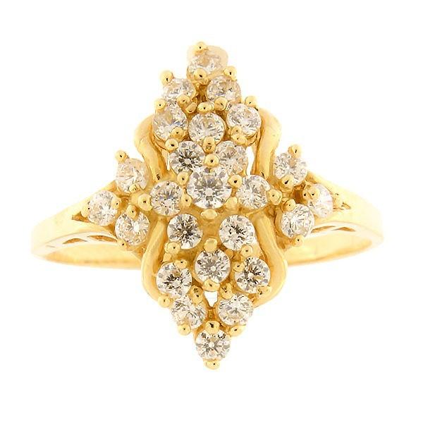 Kullast sõrmus tsirkoonidega Kood: 507wp049