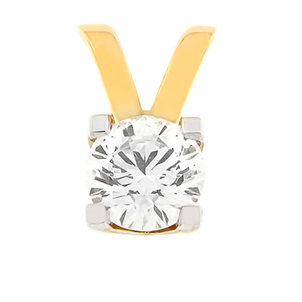 Gold pendant with diamonds 0,70 ct. Code: 50af