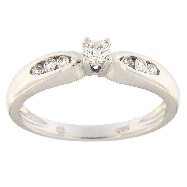 Kullast sõrmus teemantidega 0,20 ct. Kood: 52af