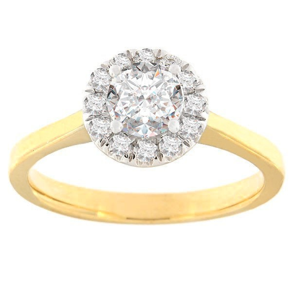Gold ring with diamonds 0,75 ct. Code: 52ha-rb6340eg
