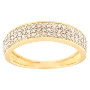 Kullast sõrmus teemantidega 0,20 ct. Kood: 53ha-ra4132