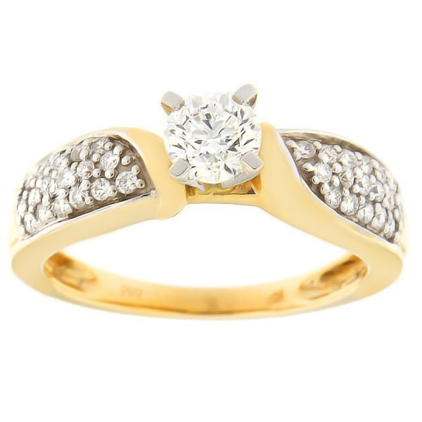Gold ring with diamonds 0,75 ct. Code: 54ab
