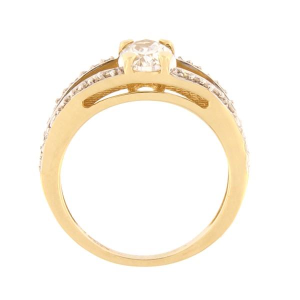 Kullast sõrmus tsirkoonidega Kood: 54pa-1
