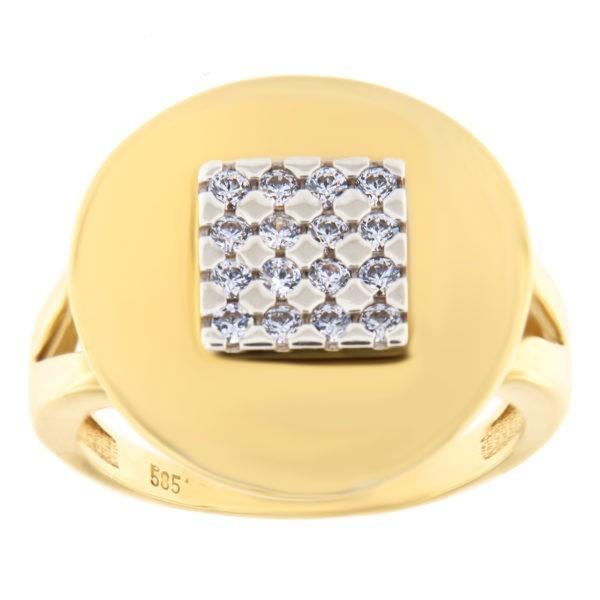 Kullast sõrmus tsirkoonidega Kood: 59wp950, 588wp950